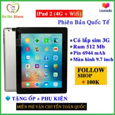 Máy Tính Bảng iPad 2 – 64GB / 32GB / 16GB – Bản Wifi Hoặc Bản (3G + Wifi) – (CPU Apple A5 1G/Hz – Ram 512Mb) – Tặng củ cáp sạc, kính cường lực, Bao Da!!!