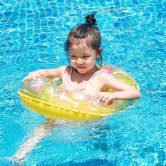 Phao bơi cho bé Tròn nhám chống trượt giá rẻ đường kính 50cm dày 0.18mm dùng tắm ở bể bơi cho trẻ , hồ bơi trẻ em – phao bơi giũ thăng bằng tốt