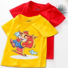Combo 2 Áo tết cho bé trai, bé gái | (6kg – 28kg) | đồ tết cho bé trai, bé gái 2021| quần áo trẻ em tết Tân Sửu | áo thun tết | CITYMEN