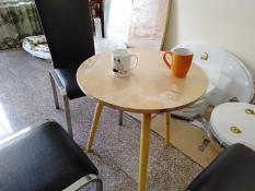 Bàn cà phê gỗ cao su bàn trà bàn coffee 60