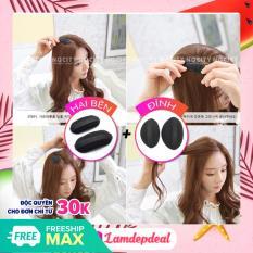 ♥ Lamdepdeal – Combo 2 bộ đệm làm phồng tóc đỉnh và 2 bên – cách đơn giản để có mái tóc phồng đáng yêu – Dụng cụ làm tóc
