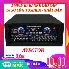 【Tặng 2 micro không dây loại hát hay】Amply karaoke 16 sò TOSHIBA nghe nhạc hội thảo AVECTOR CÔNG SUẤT LỚN 7800 2400W