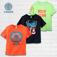 Combo 3 áo thun màu Cam,Đen và Xanh cốm TAMOD cực chất cho mùa hè sôi động.