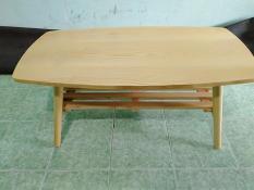 Bàn chữ nhật gỗ cao su gấp sofa phòng khách có thanh ngang