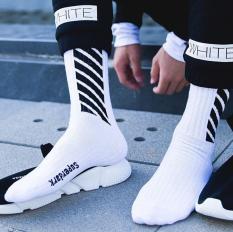 (có 3 màu) Set 3 đôi Tất Vớ phong cách OFF White siêu HOT