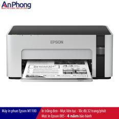 Máy in phun đen trắng Epson M1100, kết nối USB, mực siêu rẻ, in cực nhanh, Bảo Hành 4 NĂM