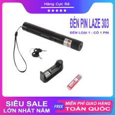 Đèn Laser 303 chiếu xa nhiều hình cực đẹp – Trọn bộ gồm đèn pin Laze, bộ sạc, pin Li-ion, chìa khóa an toàn, sách hướng dẫn, hộp đựng sản phẩm – Shop Hàng Cực Rẻ
