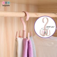 Móc thông minh treo cà vạt, móc xoay 360 độ treo khăn choàng, dậy nịt, túi xách tiết kiệm không gian tủ đồ – buysale – BSPK100