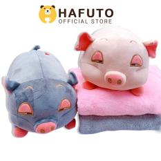 Gấu bông Hafuto | Gối mền 3in1 thú bông hình heo đờ đẫn, heo phê cần | quà tặng cho bạn gái | do choi tre em