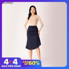 Chân váy nữ dài đẹp trẻ trung thiết kế phối nẹp cúc GUMAC mẫu mới nhất VB1261