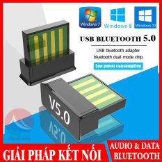 Mini USB Bluetooth 5.0 Dongle, Giải Pháp Bluetooth Cho Máy Tính Laptop, Truyền Phát Dữ Liệu Âm Thanh, thiết bị thu phát bluetooth, cục phát bluetooth PC, bộ thu phát bluetooth 5.0 cho máy in tay cầm tai nghe, usb bluetooth không dây cuulongstore