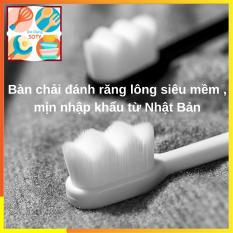Bàn chải đánh răng lông mềm Không Đau Nướu Nhật Bản SOTY BR-020 Thiết kế 12.000 sợi lông tơ siêu mềm thích hợp cho người bị chảy máu thường xuyên , dùng được cho cả trẻ em và người lớn ( 4 Màu )