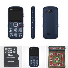Combo: Điện thoại người già BUK Care+ và Thẻ nhớ 8GB Toshiba Tặng túi đựng điện thoại thổ cẩm