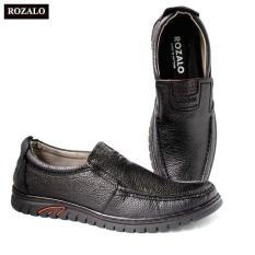 Giày lười nam da bò đế cao su siêu bền Rozalo R6792