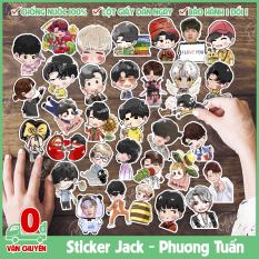 Combo 25/50/75 sticker hình dán decal chống nước chủ đề Jack J97 Phương Tuấn chibi dễ thương dán laptop điện thoại xe đạp Linh Ngoc Dang