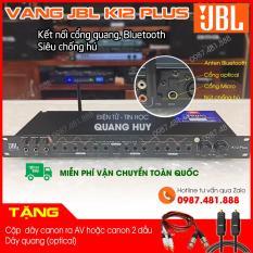 Vang cơ JBL K12 Plus có cổng quang (optical), Bluetooth siêu chống hú, hát nhẹ, dễ chỉnh dùng ghép với dàn karaoke, amply, main đẩy