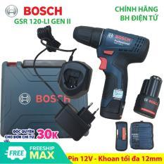Máy khoan bắt vít dùng Pin 12V Bosch GSR 120-LI GEN II Phụ kiện Xuất xứ Malaysia Bảo hành 06 tháng – Mới sản xuất năm 2019
