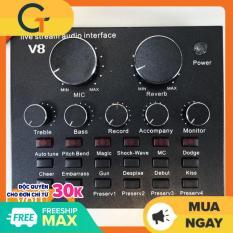 [Nhập ELJAN11 giảm 10%, tối đa 200k, đơn từ 99k]Sound card V8 có Auto Tone dành cho micro thu âm