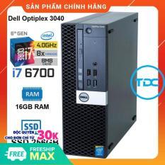 Case máy tính để bàn Dell Optiplex 3040 SFF core i7 6700 ram 16GB SSD 256GB. Quà Tặng. Hàng Nhập Khẩu. Bảo hành 24 tháng