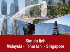 Sim Thái Lan – Malaysia – Singapore, Sim 3G 4G Du Lịch Thái Lan – Malaysia – Singapore 8 Ngày – 3GB Tốc Độ Cao
