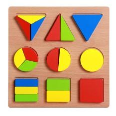 Đồ chơi bằng gỗ cho bé-Xếp Hình Toán Học 20x20x1.5 cm
