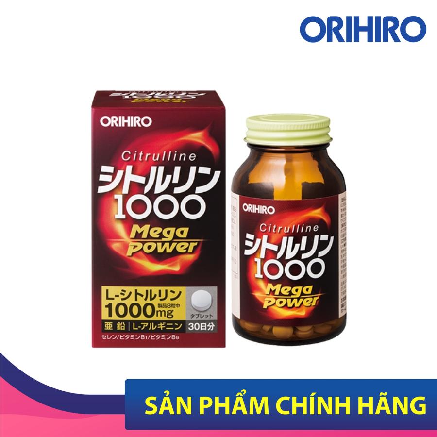 Viên Uống Bổ Sung Năng Lượng Citrulline 1000Mg Orihiro 240 Viên Giúp Giảm Lượng Chất Béo, Thúc Đẩy Tăng Trưởng Và Chuyển Hóa Năng Lượng