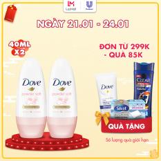 Combo 2 Lăn Khử Mùi Dove Powder Soft Dưỡng Da Sáng Mịn Hương Phấn Thơm (40ml x 2)