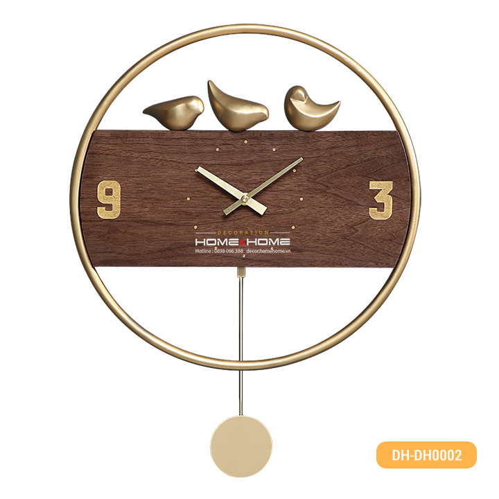 [HOT SALE] Đồng hồ treo tường hình quả lắc trang trí phòng ngủ, phòng khách thiết kế hiện đại, sang trọng