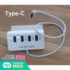 Hub USB Type-C ra 4 cổng USB kiêm giá đỡ cho Điện thoại – MẪU MỚI