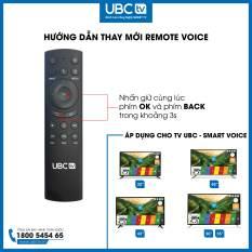 Remote smart voice tivi UBC, 05RF, 2.4GHz Wireless Remote Control with USB Receiver Voice – tương thích hệ điều hành windown, adroid, Mac OS.