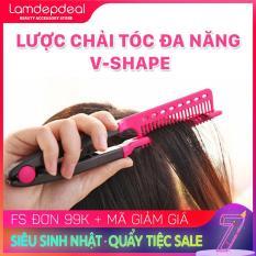 [FS 99K + MÃ GIẢM GIÁ] Lược chải tóc đa năng V-Shape – duỗi thằng – uốn cúp – phồng tóc 3in1