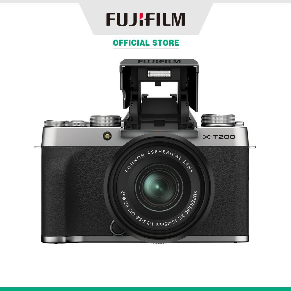 [Trả góp 0%]Máy ảnh kỹ thuật số Fujifilm X-T200/XC1545 (Bạc/Bạc đậm/Gold)