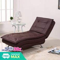 Ghế sofa thư giãn bằng da 178 x 70 x 45cm ( màu nâu ) – 3 chế độ ghế phòng khách phòng ngủ- ghế lười nằm