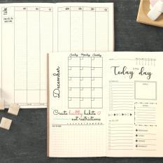 """Sổ tay planner MIX TỔNG HỢP Tháng + tuần + ngày """"Kế hoạch trọn đời"""" – Lịch tháng / Kế hoạch Tuần / Nhắc việc ngày / Chấm"""