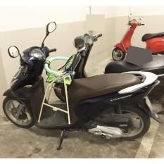 Ghế đi xe máy xếp gọn có vòng bảo vệ xe SH mode, grande