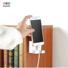 Kệ dán tường đựng remote, treo điện thoại, phích cắm điện dán tường 2 trong 1 – buysale – BSPK151