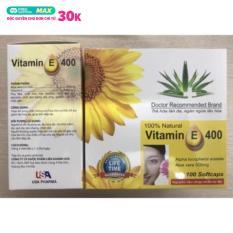 Vitamin E 400 Đẹp da, sáng da, chống lão hoá da hộp 100 viên