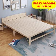 Giường ngủ gỗ thông gấp gọn kích thước 60cm, 80cm, 100cm, 120cm Tặng đệm gối