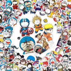 Bộ 25 sticker ngẫu nhiên trong 100 mẫu chủ đề Đôrêmon (Doraemon) cosplay chống nước dán điện thoại, laptop, xe đạp, nón bảo hiểm,…