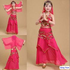 Trang phục váy Ấn độ múa nổi bật cho bé mẫu Váy kết hợp Áo yếm