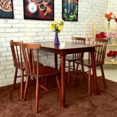 bộ bàn pinnstol Anpha màu nâu 4 ghế(giao hàng Mphí)
