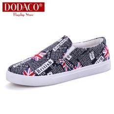 [Free_Ship_COD] Giày lười nam giày mọi nam DODACO LVS0007 đế bệt hàng hiệu rẻ đẹp khử mùi thoáng khí đế cao su siêu bền phù hợp đi học đi làm đi chơi đi bộ tập thể thao phong cách thời trang mẫu mới hot 2019