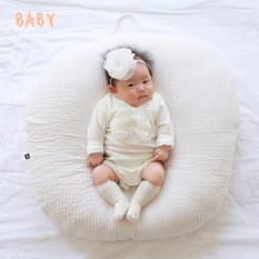 Gối chống trào ngược cho bé Rototo Bebe, gối chữ C cao cấp nhập khẩu 100% Hàn Quốc chất liệu Cotton – Chần bông cao cấp