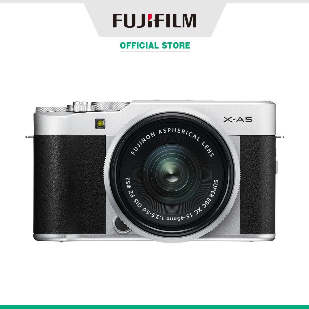 Máy ảnh kỹ thuật số Fujifilm X-A5/XC15-45 (Nâu/Bạc/Bạc đậm/Hồng)