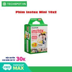 [Nhập ELJAN11 giảm 10%, tối đa 200k, đơn từ 99k]Hộp phim Fujifilm instax mini Instant Color Film (20 tấm)- Techspotvn Phim dùng cho các loại máy chụp lấy liền cho màu ảnh đẹp độc đáo với khung ảnh 92 x 61 mm