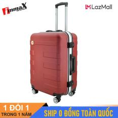 [ MIỄN PHÍ SHIP] Vali nắp gập immaX A16 Size 24inch / Vali viền nhôm nắp gập, vali lớn ký gửi hành lý
