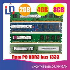Ram máy tính để bàn 8GB 4GB 2GB DDR3 bus 1333 PC3 10600 (Hãng ngẫu nhiên) Kingston samsung hynix SSD … PCR3 TH