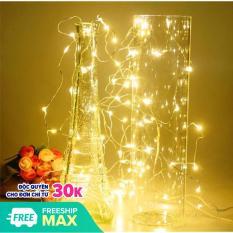 (Tặng Kèm Pin AA) Đèn Led Trang Trí Đom Đóm 3 Mét 30 Bóng Mini Chipsbling Fairy Light Màu Vàng Nắng Không Chớp