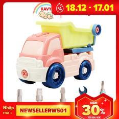 Đồ chơi lắp ráp cho bé mô hình xe tải nhiều màu sắc kích thích giác quan của bé, kích thước rất lớn, nhựa nguyên sinh an toàn(kèm vít) – KAVY