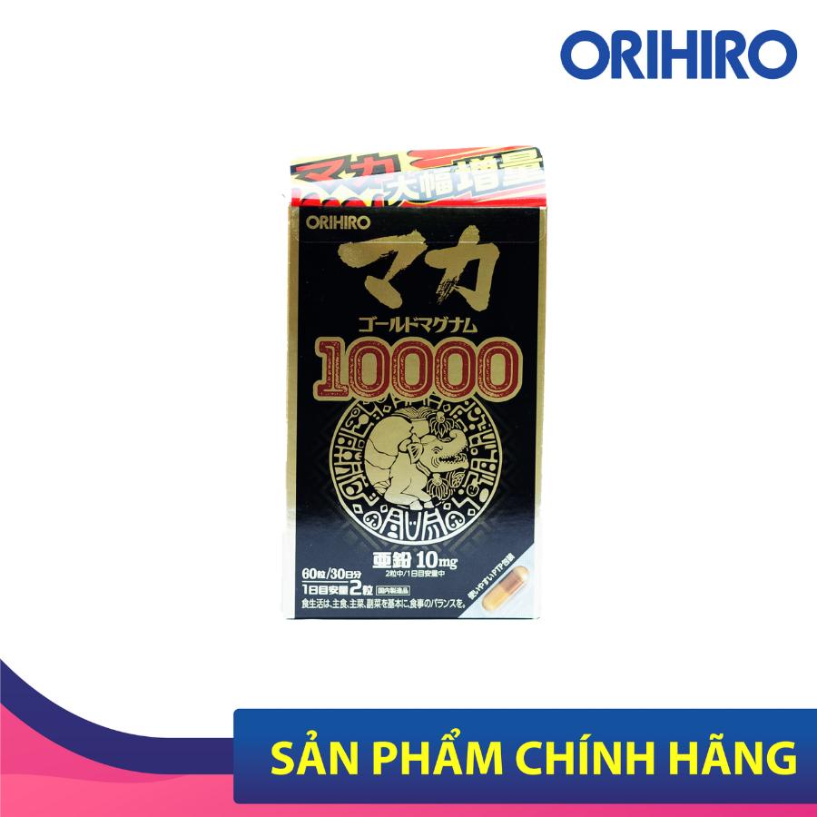 Viên uống hỗ trợ tăng cường sinh lý nam nữ Orihiro Maca Gold Magnum 10000 Orihiro 90 viên